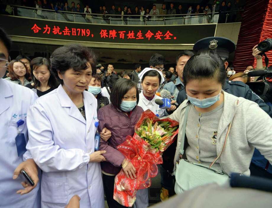 A woman, who was infected with H7N9 bird flu, is discharged from the First Affiliated Hospital of College of Medicine of Zhejiang University on April 19, 2013 in Hangzhou, China. China on Thursday confirmed five new cases of H7N9 avian influenza, bringing the total to 87 cases in the country, with 17 deaths. Photo: ChinaFotoPress, ChinaFotoPress Via Getty Images / 2013 ChinaFotoPressChinaFotoPress/ChinaFotoPress via Getty Images