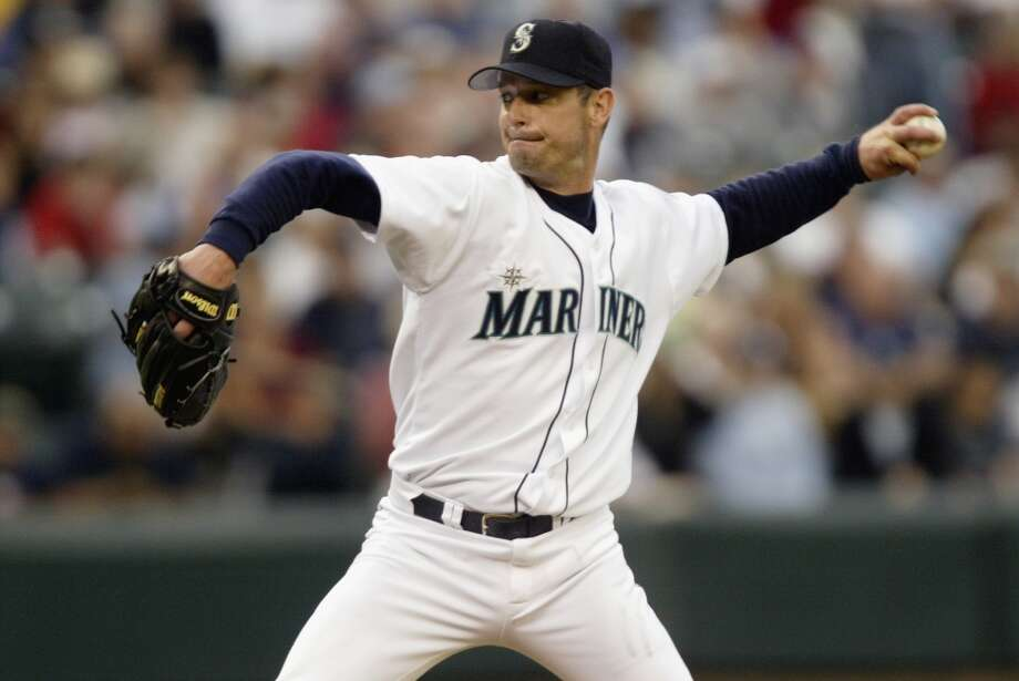 1. Jamie Moyer -- 145 wins Mariners record: 145-87 | Career record: 269-209 | Seasons in Seattle: 1996-2006  In 2012, at the age of 49, Moyer became the oldest pitcher to ever record an MLB win. Already in his 10th year when he joined the Mariners, he was a consistent starter for Seattle and still has deep ties to the city. He was an All-Star in 2003 when he finished 21-7 and, after getting cut mid-2012, is now retired at age 50. While he also has the second-most losses in M's history with 87, he holds the franchise record of 145 wins.