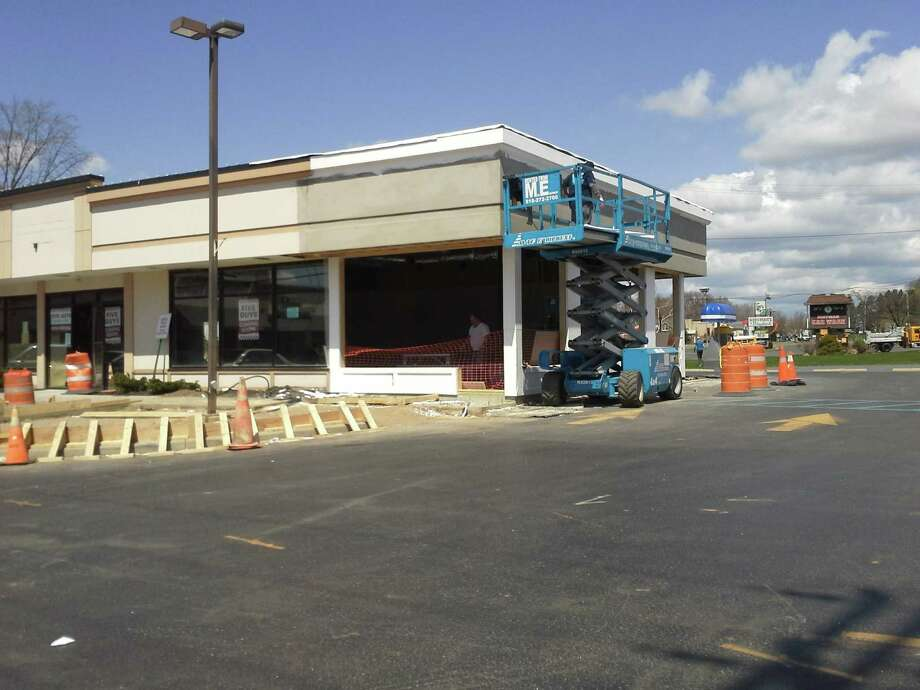 Five Guys is building a new location at Newton Plaza on Route 9, a former site of a Mr. Subb Bistro.  Photo by Larry Rulison