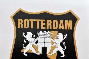 Emblem on a Rotterdam police car in Rotterdam Wednesday Feb. 20, 2013.  (John Carl D'Annibale / Times Union)