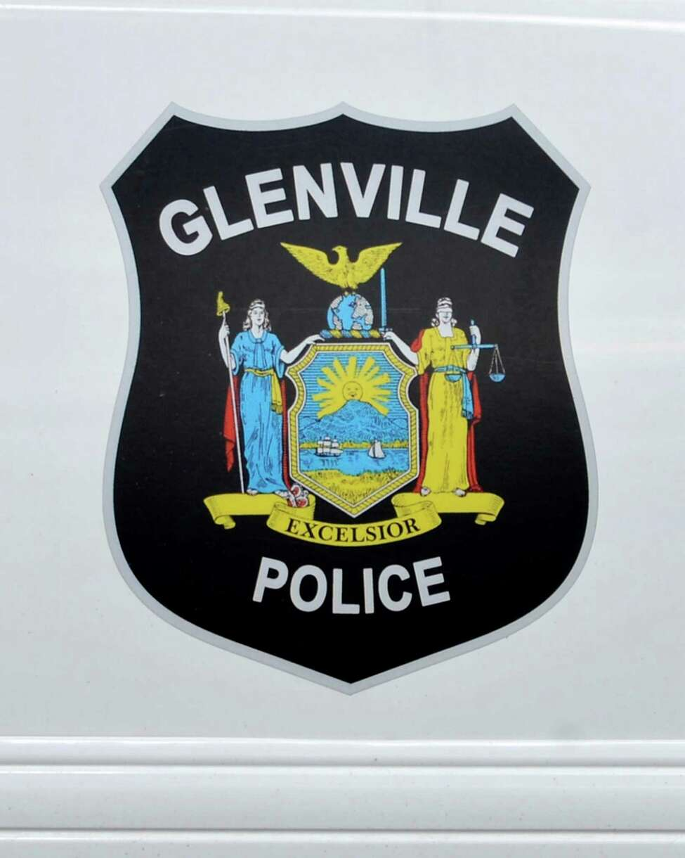 Emblem on a Glenville police car in Glenville Wednesday Feb. 20, 2013. (John Carl D'Annibale / Times Union)
