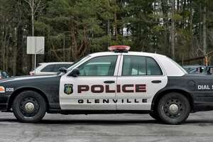 A Glenville police car at its station Wednesday Feb. 20, 2013.  (John Carl D'Annibale / Times Union)