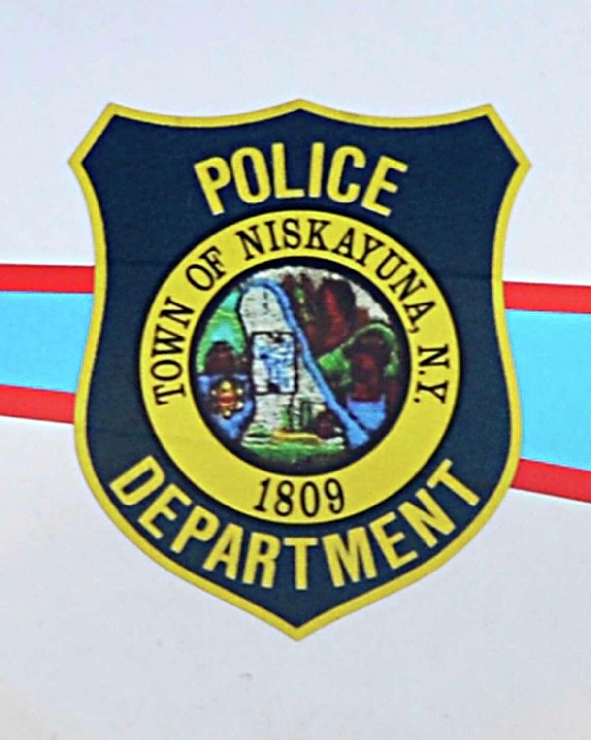 Emblem on a Niskayuna police car in Niskayuna Wednesday Feb. 20, 2013. (John Carl D'Annibale / Times Union)