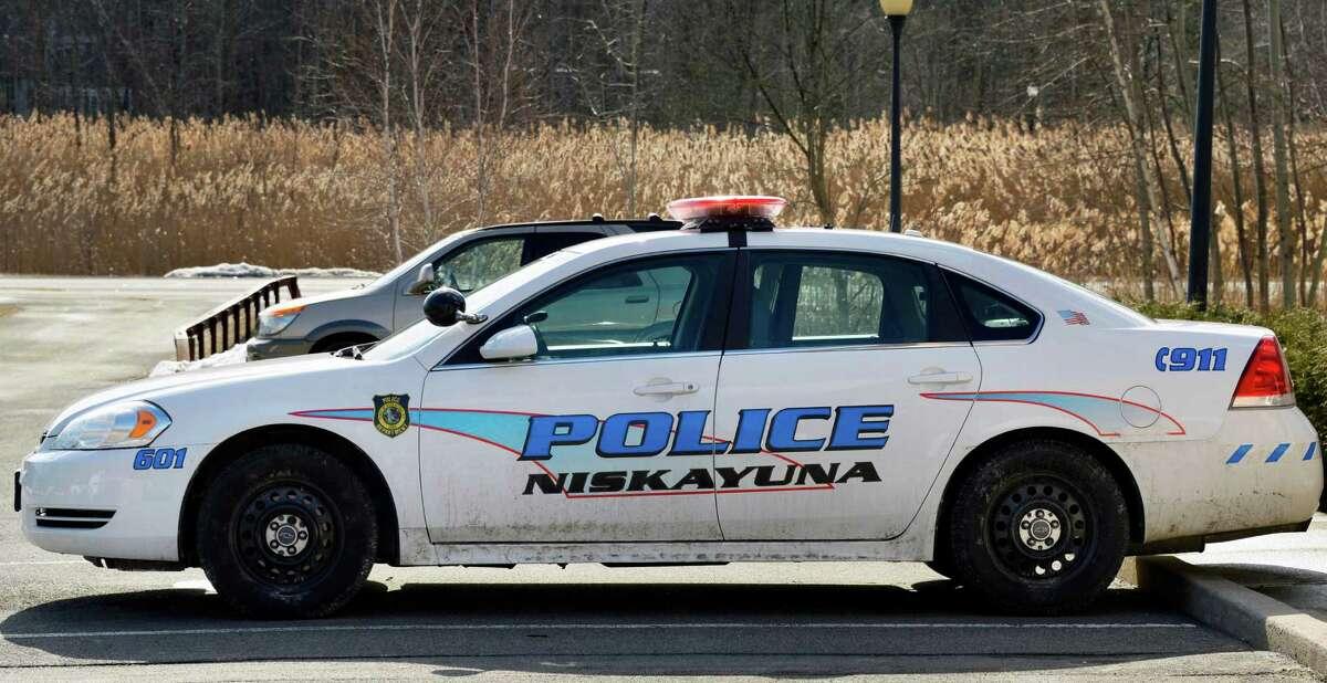 A Niskayuna police car at the station Wednesday Feb. 20, 2013. (John Carl D'Annibale / Times Union)