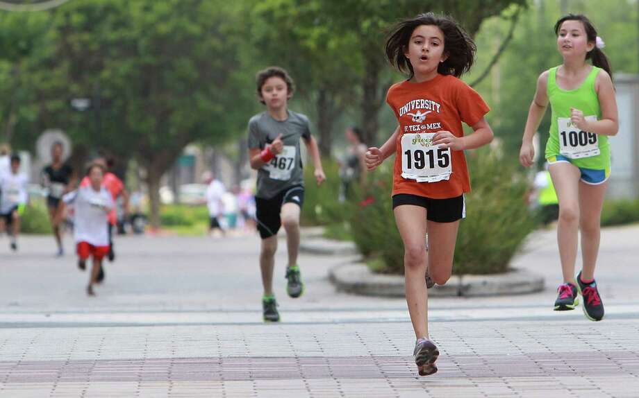 Skylar Park wins 1st Place in the Lemonade Day Kids 1K Fun Run at City Center on Saturday, April 27, 2013, in Houston. . Photo: Mayra Beltran / © 2013 Houston Chronicle
