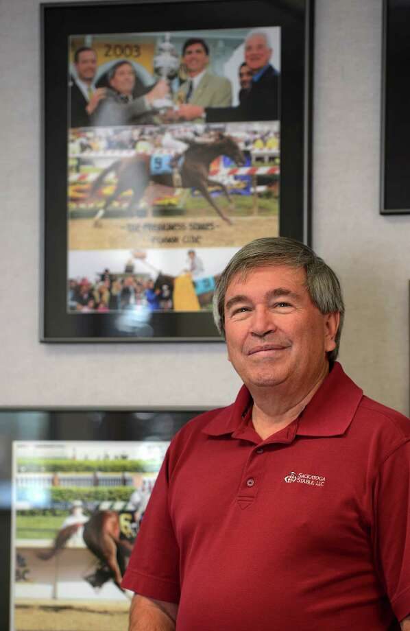 Jack Knowlton, principal owner of 2003 Kentucky Derby and Preakness winner Funnycide speaks about his experiences with the horse ten years later on April 15, 2013 in his offices in Saratoga Springs, N.Y.   (Skip Dickstein/Times Union) Photo: SKIP DICKSTEIN / 10021965A