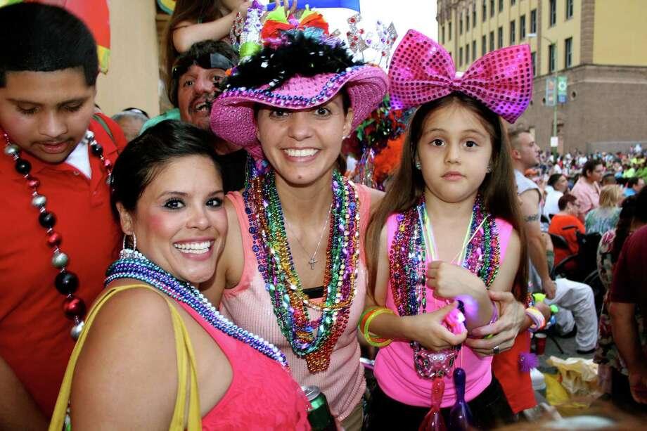 The annual Fiesta Flambeau Parade on Saturday, April 27, 2013, in downtown San Antonio. Photo: Yvonne Zamora / San Antionio Express-News