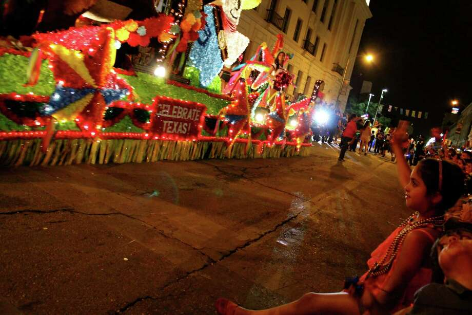 The annual Fiesta Flambeau Parade on Saturday, April 27, 2013, in downtown San Antonio. Photo: Yvonne Zamora / San Antionio Express-News