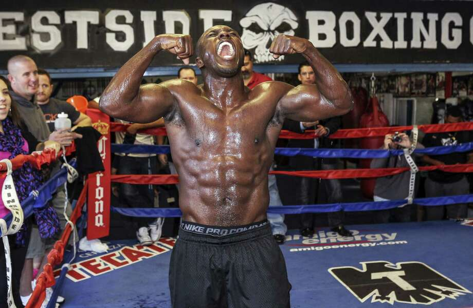 Former welterweight champion Andre Berto is scheduled to take on Jesus Soto Karass in the 12-round main event of a Showtime-televised tripleheader July 27 at the AT&T Center. Photo: Damian Dovarganes / Associated Press