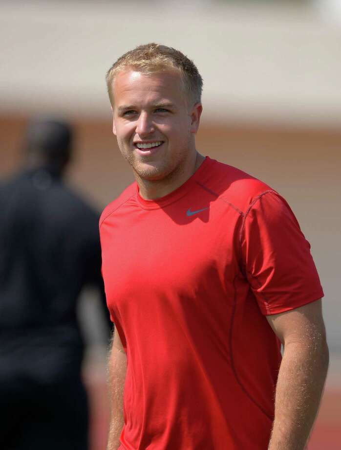 Southern California quarterback Matt Barkley looks on during NFL Pro Day at the University of Southern California, Wednesday, March 27, 2013, in Los Angeles. (AP Photo/Mark J. Terrill) Photo: Mark J. Terrill, STF / AP