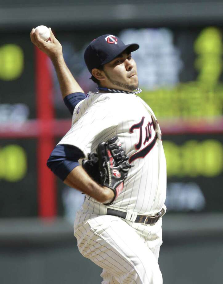 Twins left-hander Pedro Hernandez allowed five hits and struck out three to earn his first major-league victory. It was only his second start for Minnesota. Photo: Jim Mone / Associated Press