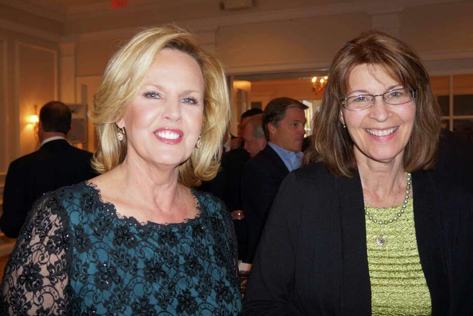 Diane Smith and Catherine Brubeck Yaghsizian at the Tribute to Dave Brubeck Benefit Gala sponsored by Visiting Nurse & Hospice of Fairfield County at Woodway Country Club in Darien. 4/27/2013 Photo: Todd Tracy/ Hearst Connecticut Media Group