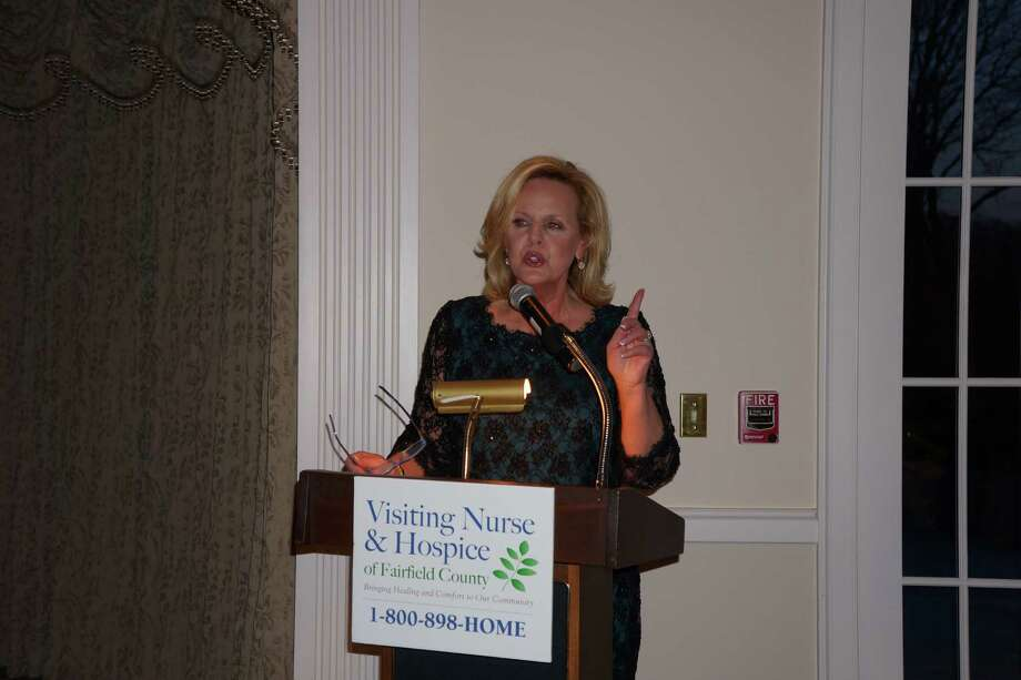 Diane Smith, author & newscaster, was the MC at the Tribute to Dave Brubeck Benefit Gala sponsored by Visiting Nurse & Hospice of Fairfield County at Woodway Country Club in Darien. 4/27/2013 Photo: Todd Tracy/ Hearst Connecticut Media Group