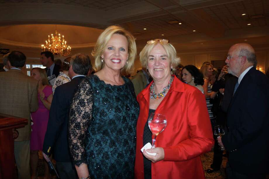 Diane Smith and Judy Higby at the Tribute to Dave Brubeck Benefit Gala sponsored by Visiting Nurse & Hospice of Fairfield County at Woodway Country Club in Darien. 4/27/2013 Photo: Todd Tracy/ Hearst Connecticut Media Group
