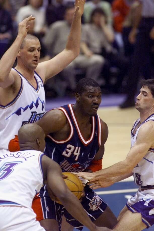 The Rockets and Utah Jazz waged a fierce rivalry throughout the 1990s. Houston got the best of Utah in the Western Conference Final in 1994, en route to beating the Knicks for the championship. The Jazz would get their revenge several times in later series. Photo: File Photo, Houston Chronicle
