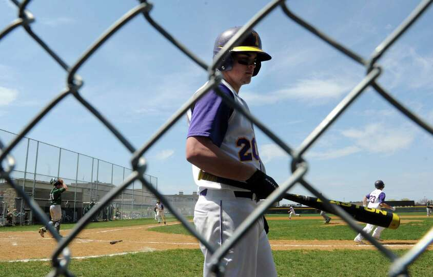 Troy's James Waters during their boy's high school baseball game against Shenendehowa on Saturday Ap