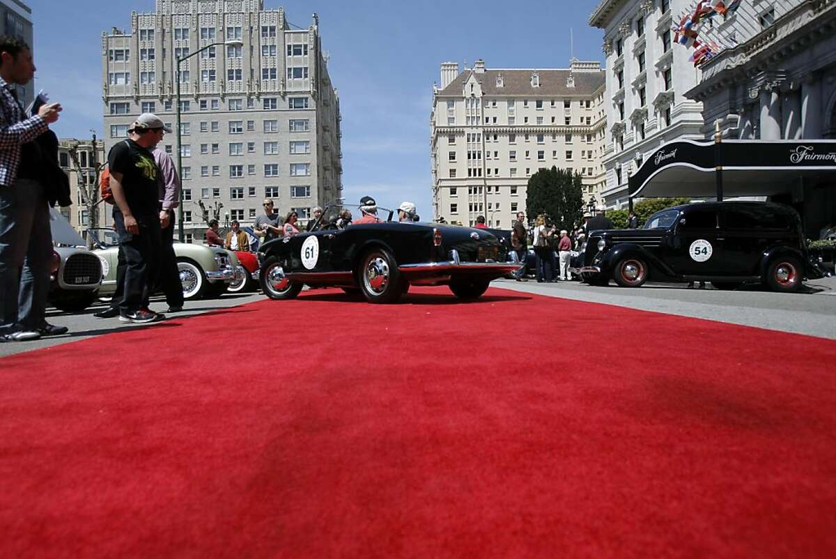 Steve Earle drives his 1958 Porsche Speedster onto the red carpet during the car show on Nob Hill in front of The Fairmont on April 28, 2013 in San Francisco, Calif. The event is a tribute to Martin Swig and displays more than 60 historic cars from all over the world. It opens the 23rd Annual California Mille, patterned after the famous Italian Mille Miglia (thousand mile) race that ran from 1927 to 1957. This event is also being celebrated as part of 2013: The Year of Italian Culture in the U.S.