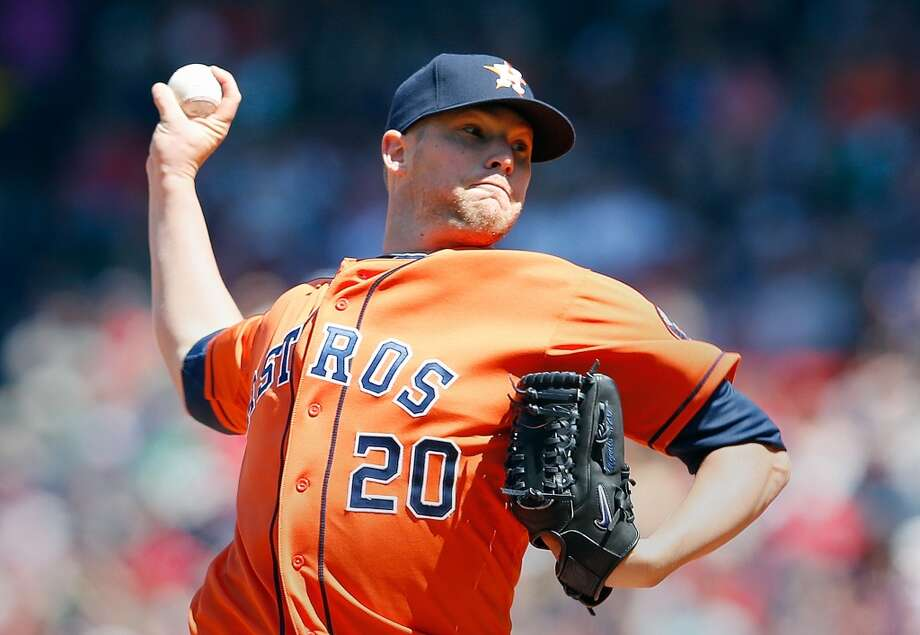 Astros pitcher Bud Norris delivers a throw against the Red Sox. Photo: Jim Rogash, Getty Images