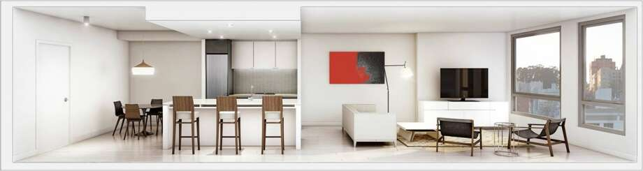 The kitchens will have designer cabinets and counters, according to the management.