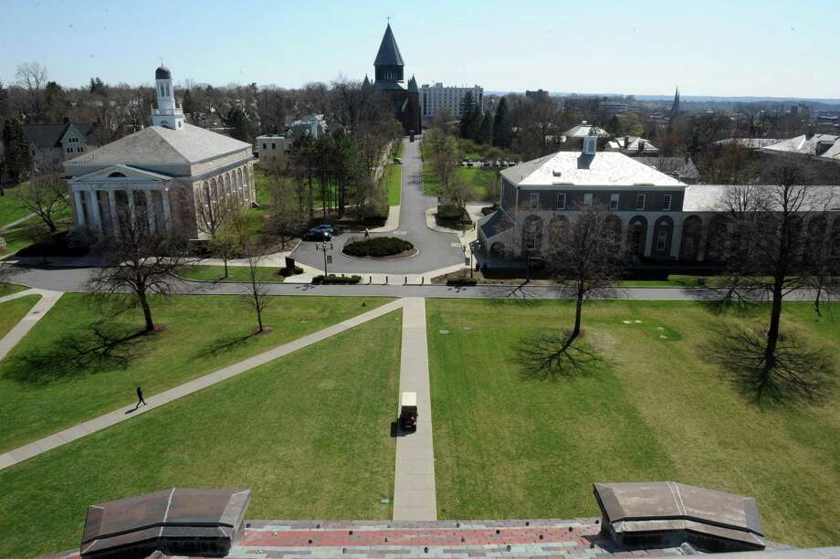 A view from the Nott Memorial of the Union College campus on Thursday April 25, 2013 in Schenectady, N.Y. (Michael P. Farrell/Times Union) Photo: Michael P. Farrell
