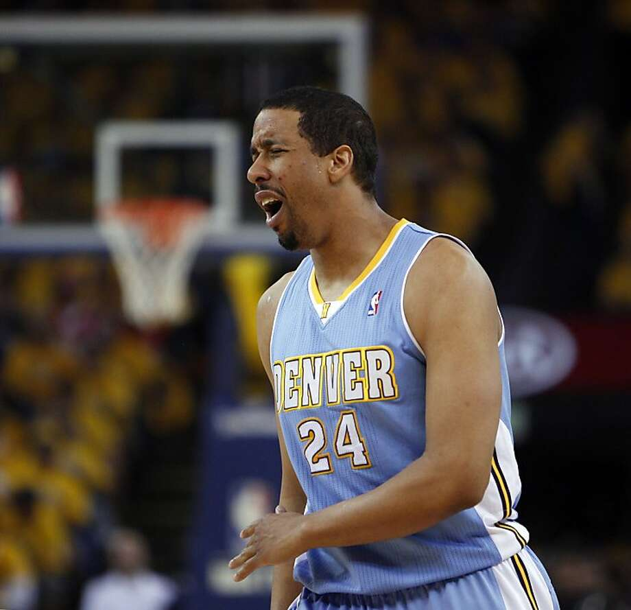 Andre Miller (24) reacts to being called for an offensive foul in the first half. The Golden State Warriors played the Denver Nuggets in Game 4 of the first round of the NBA playoffs at Oracle Arena in Oakland, Calif., on Sunday, April 28, 2013. Photo: Carlos Avila Gonzalez, The Chronicle