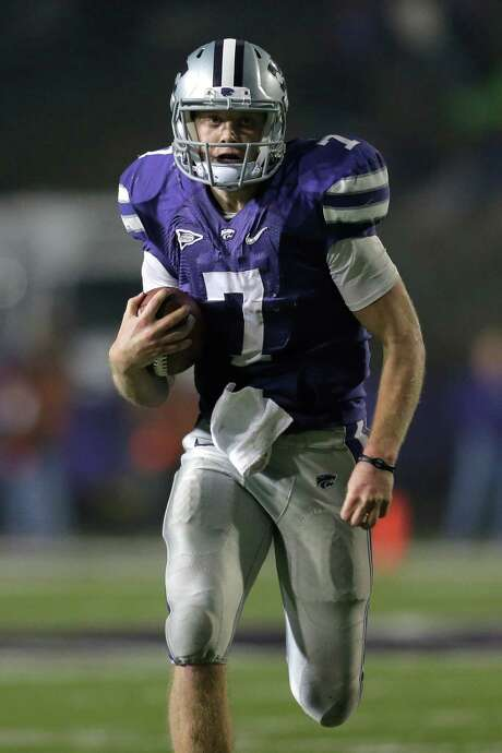 The Texans added Kansas State quarterback Collin Klein, who may try tight end, as an undrafted free agent. Photo: Charlie Riedel, STF / AP