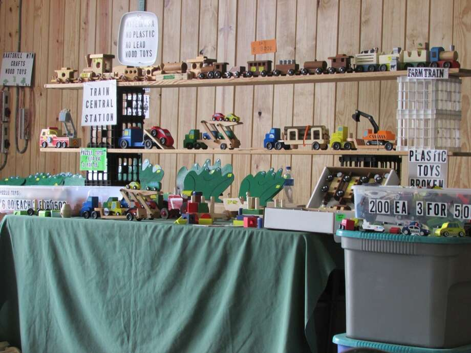 Hand crafted toys made without any metal or plastic. These toys are made all out of wood and were being sold at the Festival. Photo by Erik DeFruscio.