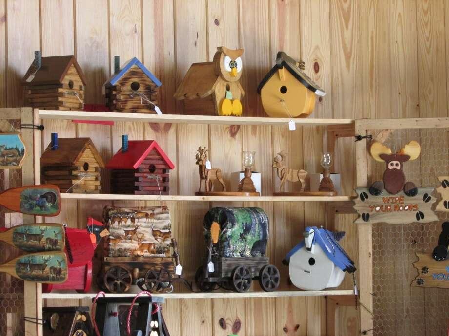 Locally handmade birdhouses also being sold at Progressland. Photo by Erik DeFruscio.