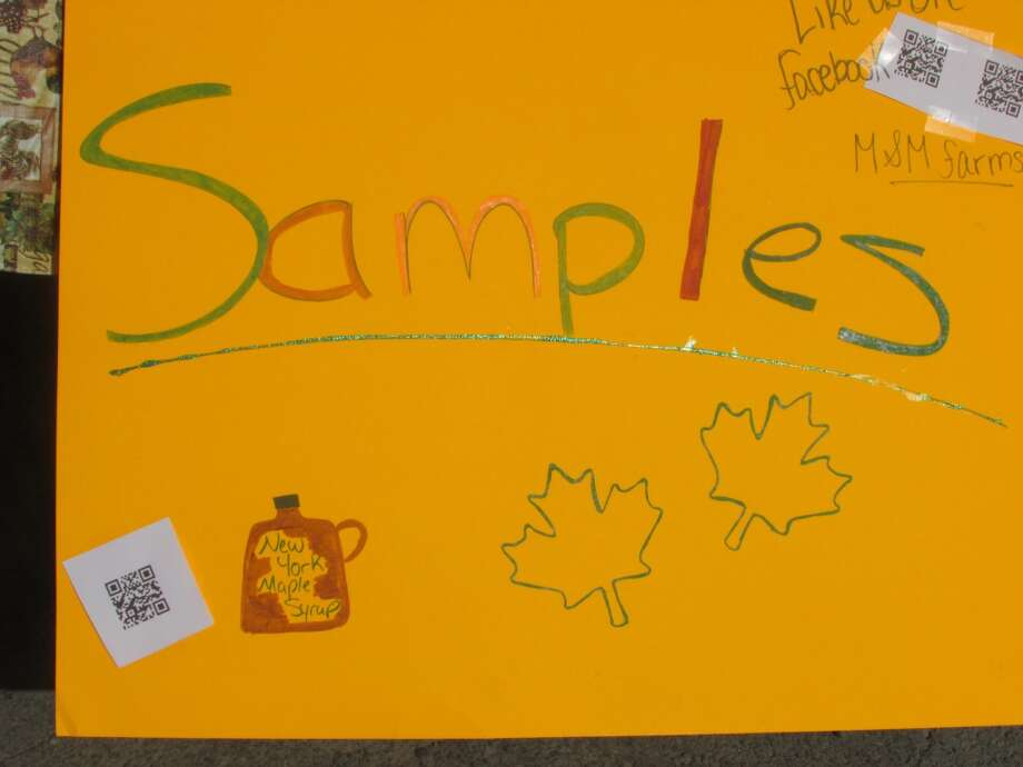 Free samples of the famous maple syrup! Photo by Erik DeFruscio.