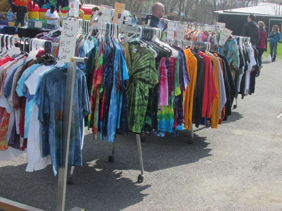 Keep walking through the Festival and you will find more vendors selling clothes including tie-dye shirts, sweaters, and hats. Photo by Erik DeFruscio.