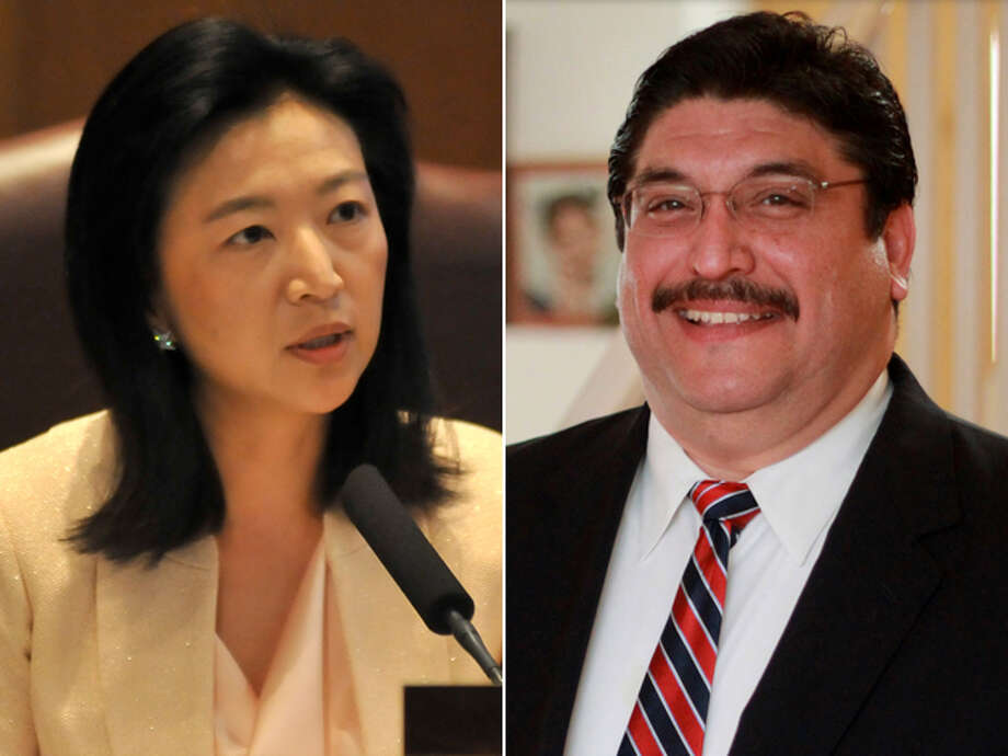 DISTRICT 9 CANDIDATES, FROM LEFT: Incumbent Elisa Chan and Jason Salinas. Click here to read more about the District 9 race Photo: San Antonio Express-News And Courtesy Photos