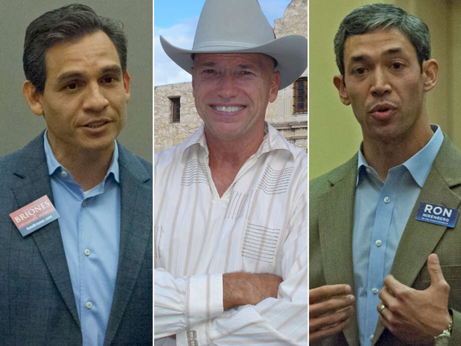 DISTRICT 8 CANDIDATES, FROM LEFT: Rolando Briones, Mike Kueber and Ron Nirenberg. Click here to read more about the District 8 race Photo: San Antonio Express-News And Courtesy Photos