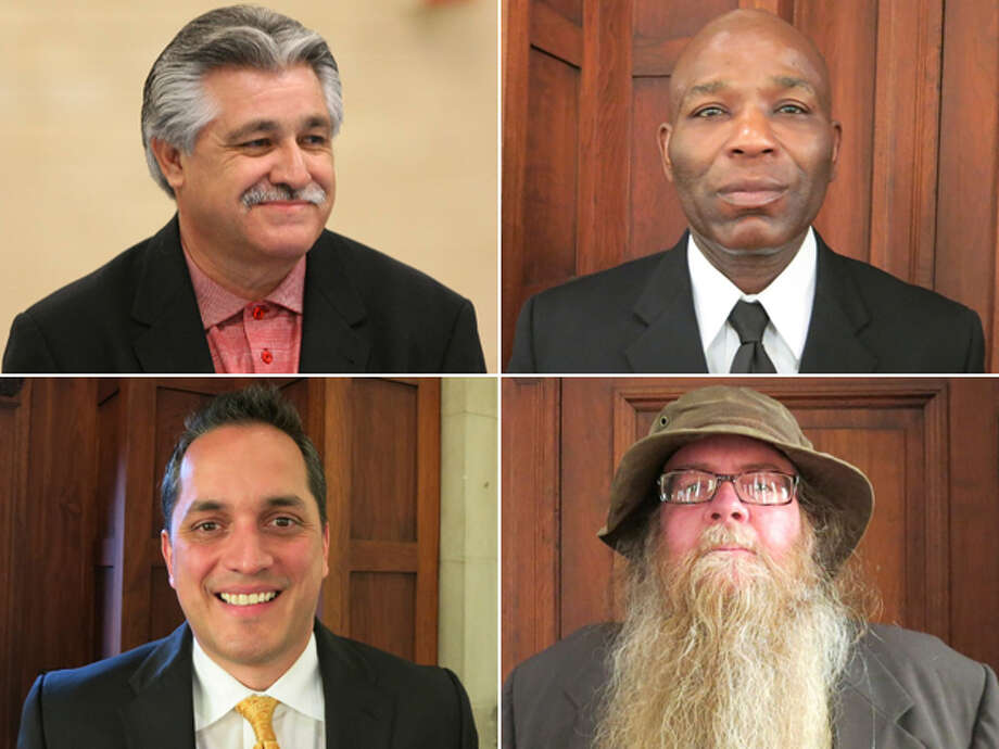 DISTRICT 6 CANDIDATES, CLOCKWISE FROM TOP LEFT: Incumbent Ray López, John Barfield, Steve Shamblen and Greg Brockhouse. Click here to read more about the District 6 race Photo: San Antonio Express-News And Courtesy Photos