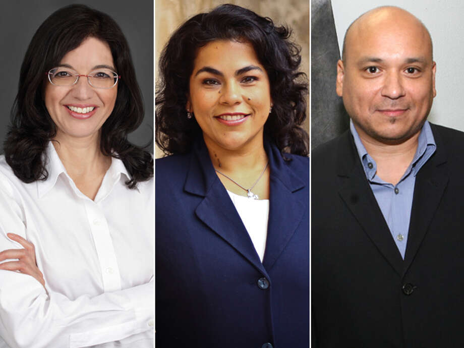 DISTRICT 3 CANDIDATES, FROM LEFT: Incumbent Leticia Ozuna, Rebecca Viagran and Gabriel Velasquez. Click here to read more about the District 3 race Photo: San Antonio Express-News And Courtesy Photos