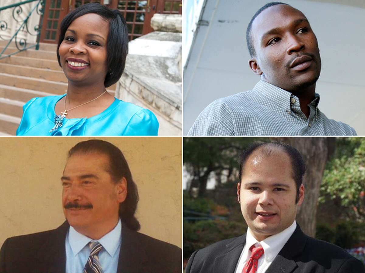 DISTRICT 2 CANDIDATES, CLOCKWISE FROM TOP LEFT: Incumbent Ivy Taylor, Norris Tyrone Darden, Hector Medina and Antonio Díaz. Click here to read more about the District 2 race