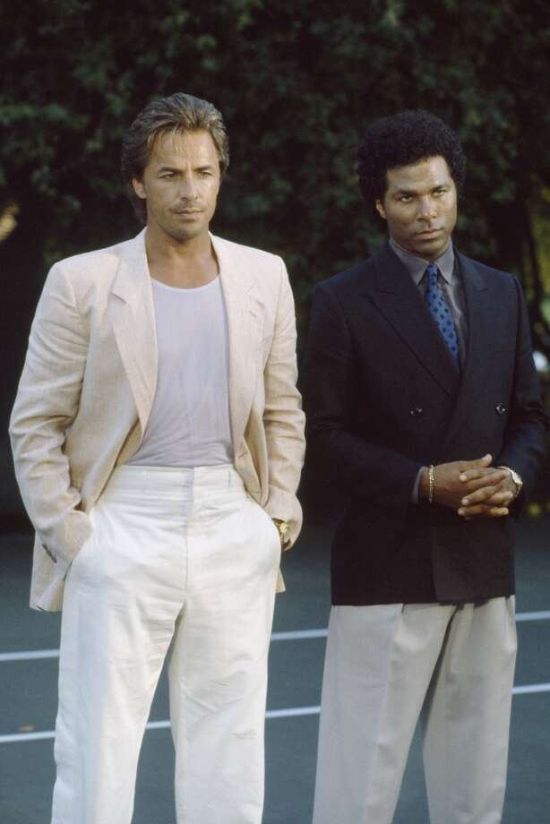 'Miami Vice':  For better or worse, James 'Sonny' Crockett and Ricardo 'Rico' Tubbs put pastel t-shirts, light suits and loafers on the map.