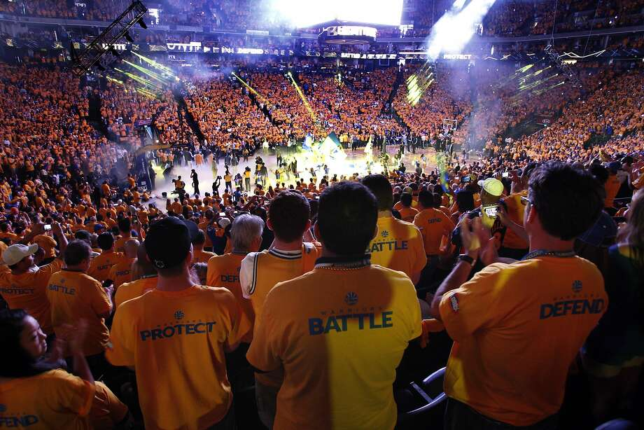 Oracle Arena was electric during last season's playoffs. Photo: Carlos Avila Gonzalez, The Chronicle