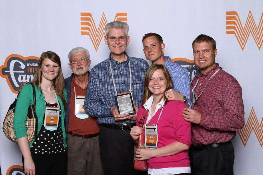 Jasper Whataburger franchise owner with his Franchisee of the Year Award. Courtesy Photo