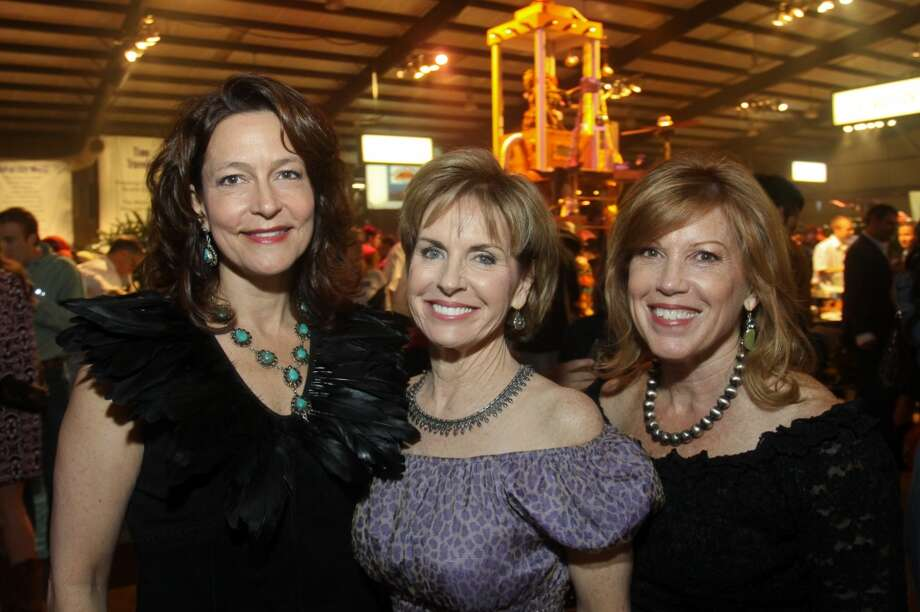 Lauri Gordon, from left, Pam Jones and Gigi Harbison at the Cattle Barons Ball. Lauri and Gigi chair the ball. Pam is the president of the VICTORY branch of the American Cancer Society.