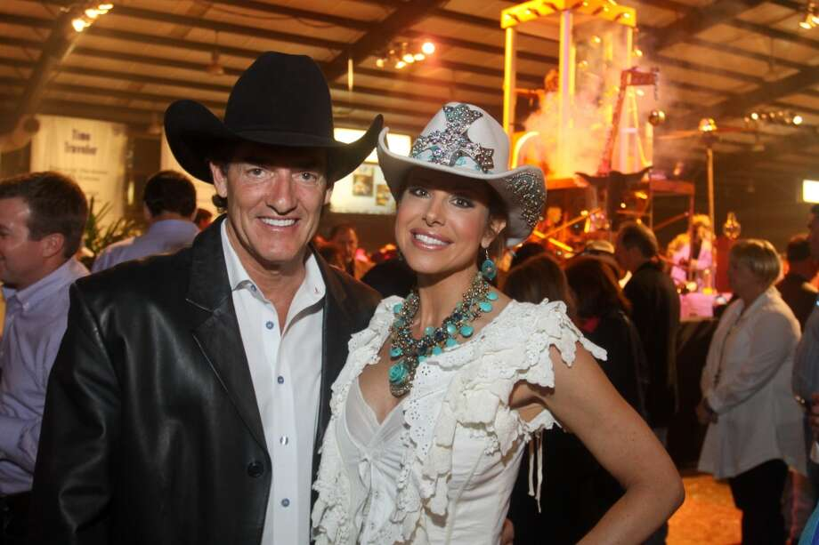 Nick Florescu and Dominique Sachse at the Cattle Barons Ball.