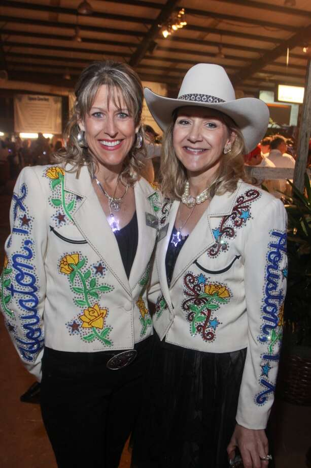 Shary Heins, left, and Nancy Ebanks at the Cattle Barons Ball. They were the 2010 chairs of the ball.