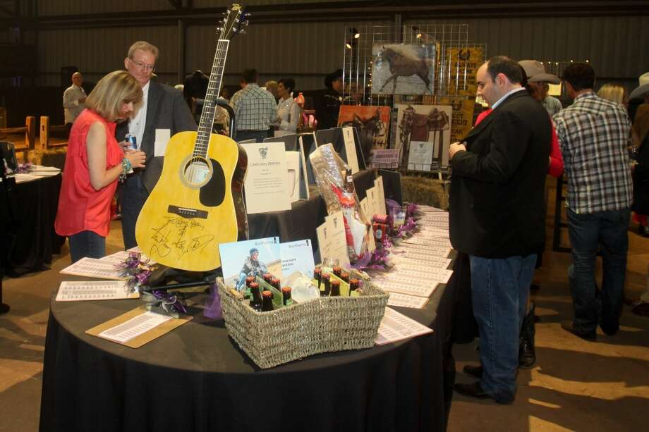 The silent auction area at the Cattle Barons Ball.
