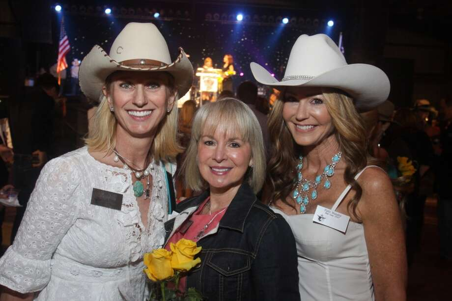 Stef Levy, from left, Melinda Overstreet and Patti Murphy at the Cattle Barons Ball. They chaired the 2007 ball.