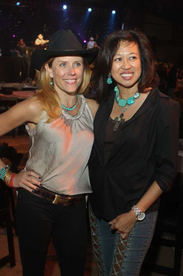 Tricia Rhemtulla, left, and Carol Beck at the Cattle Barons Ball.