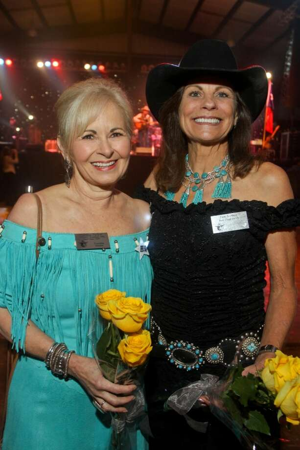 Marsha Parker, left, and Jan Young at the Cattle Barons Ball.