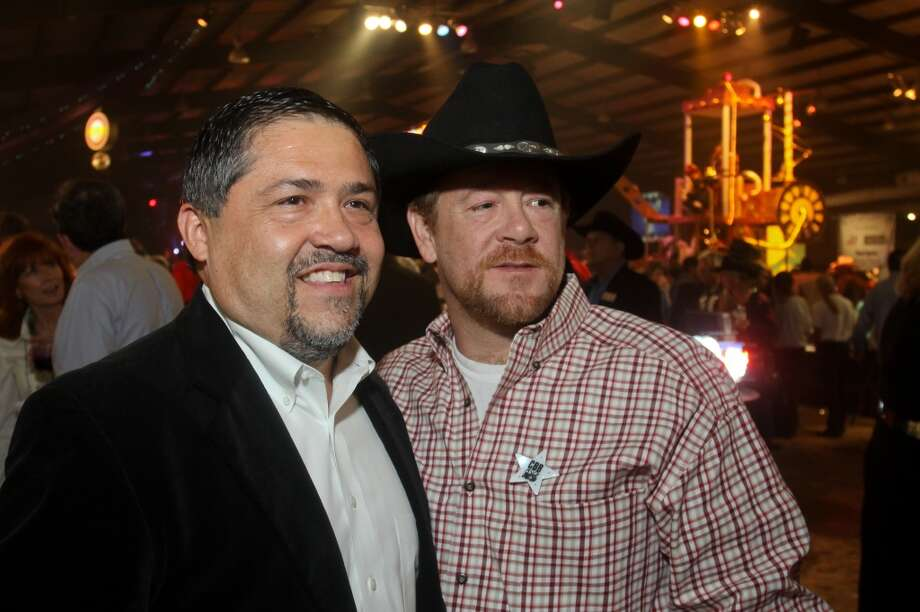 Bruce Padilla, left, and Shelby Kibodeaux at the Cattle Barons Ball.