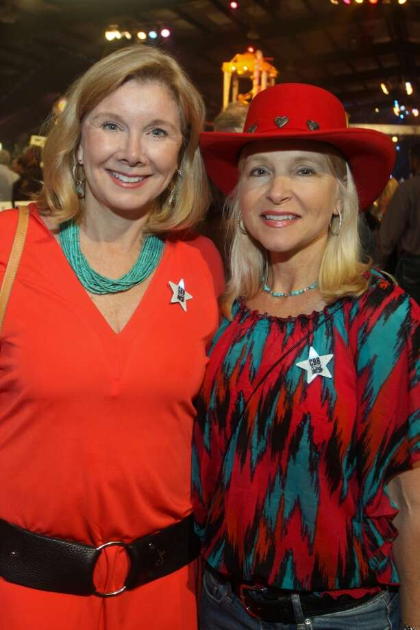 Sissy Lappin, left, and Kay-Kay White at the Cattle Barons Ball.