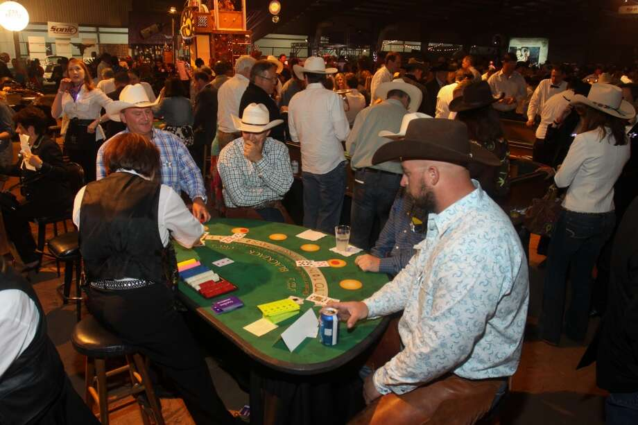 Gaming tables at the Cattle Barons Ball.
