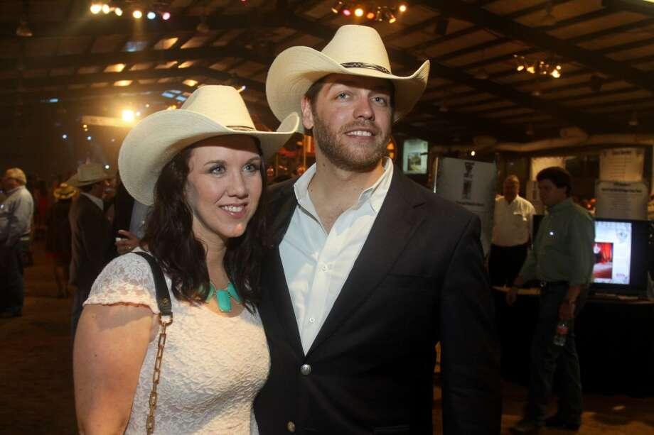 Saree and Nicolas Mims at the Cattle Barons Ball.