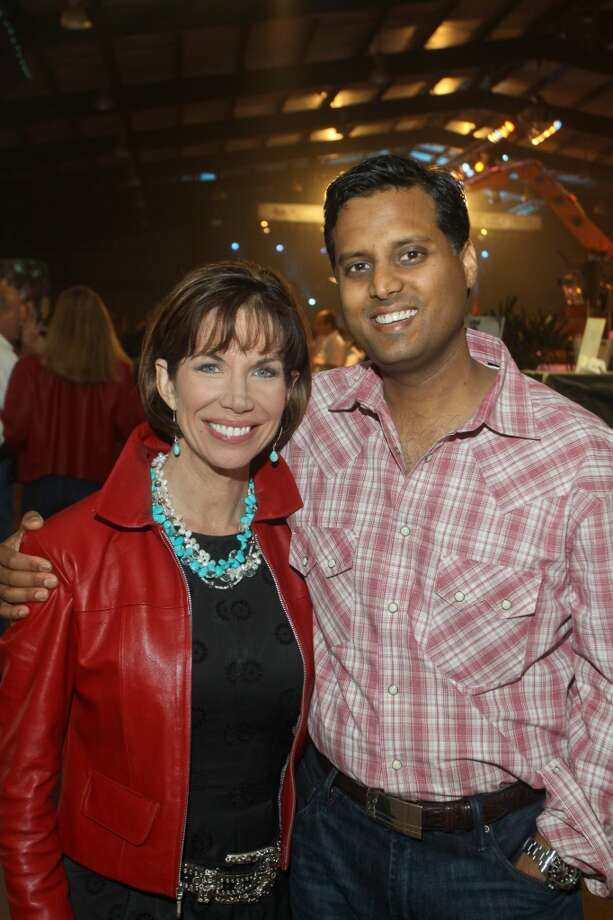 Roseann Rogers and Dr. Ashish Shah at the Cattle Barons Ball.